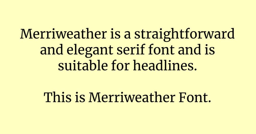 Merriweather