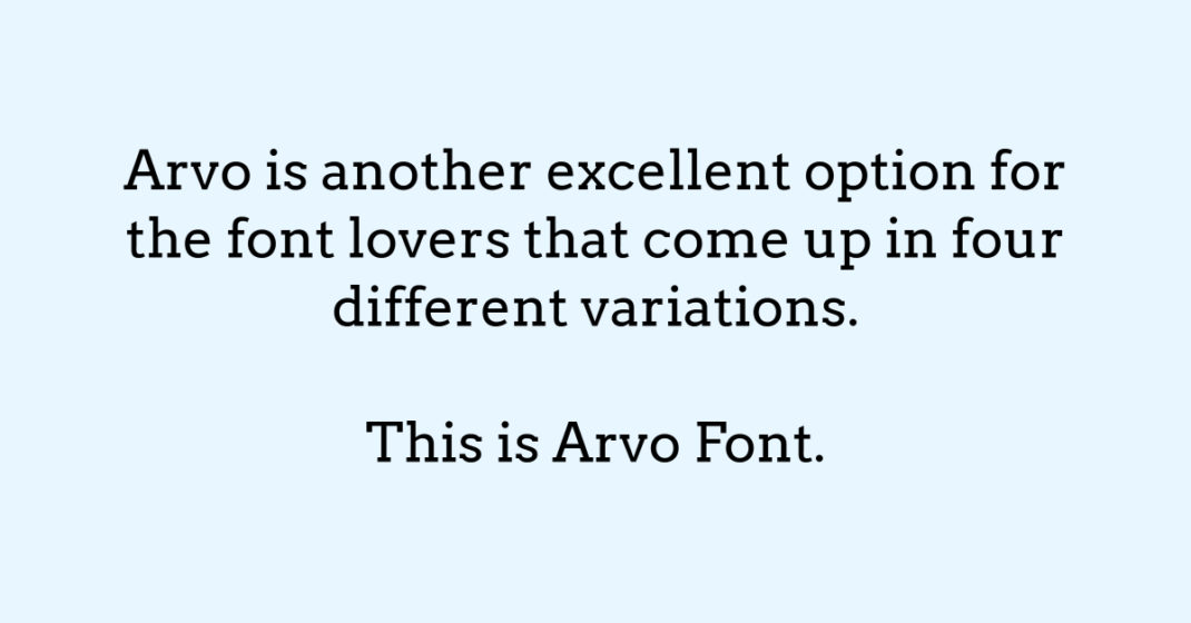 <strong>Arvo</strong>
