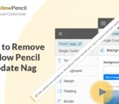 remove yellow pencil update nag