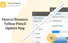 remove yellow pencil update nag