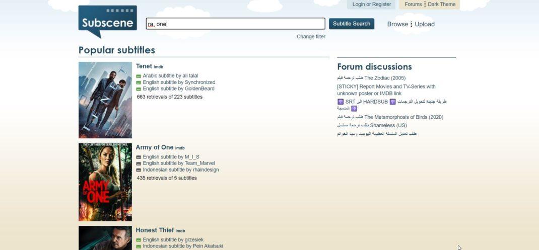 Subscene - Best site for subtitles download