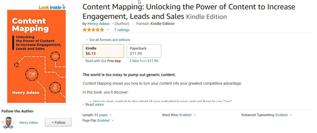 Content Mapping <em>by Henry Adaso</em>