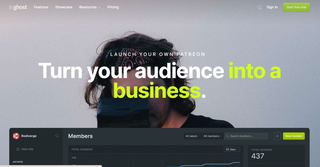 Ghost -Turn your audience into a business