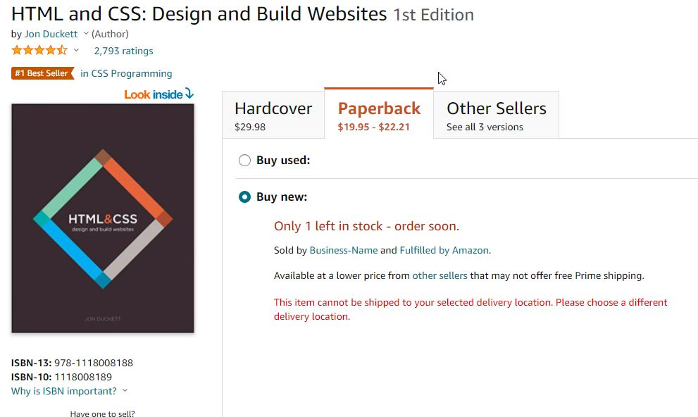 HTML and CSS_ Design and Build Websites_ Duckett, Jon