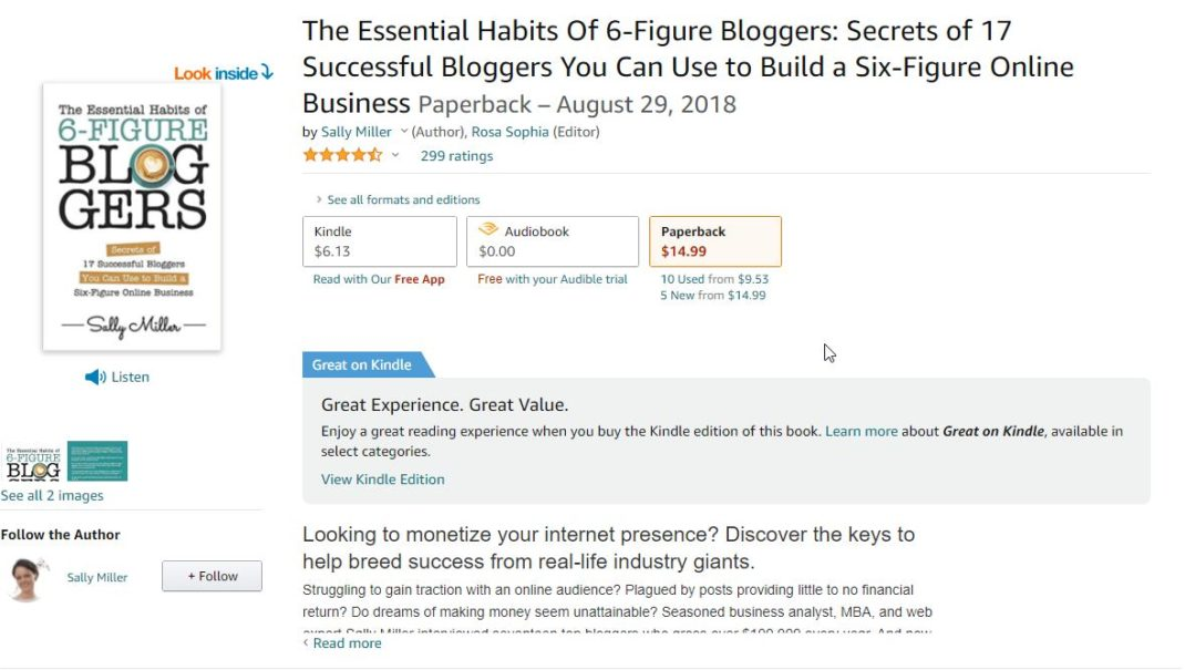 The Essential Habits of 6 figure Bloggers <em>by Sally Miller</em>